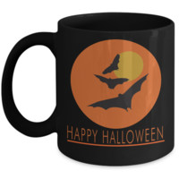 Happy Halloween ceramic coffee mug - Halloween decor