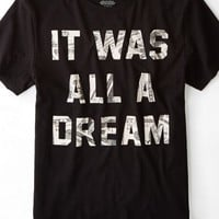 AEO Men's Dream Graphic T-shirt (Bold Black)