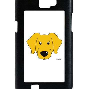 Cute Yellow Labrador Retriever Dog Galaxy Note 2 Case  by TooLoud