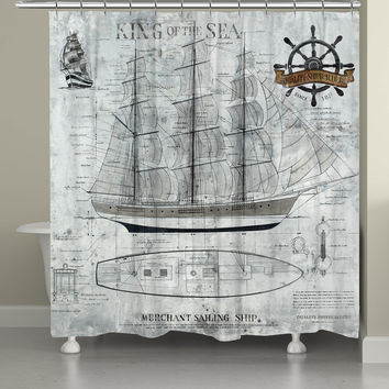 King of the Sea Shower Curtain
