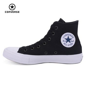 new converse chuck taylor ii all star shoes unisex high sneakers canvas blue black col