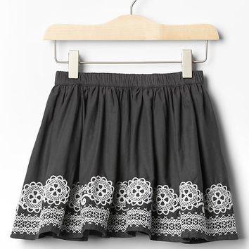 Embroidered Border Circle Skirt