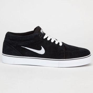 Nike Sb Satire Mid Mens Shoes Black/White  In Sizes