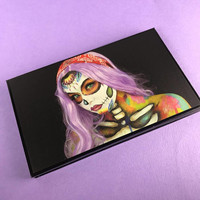 Hippie Sugar Skull Makeup Palette, Magnetic with Mirror Z