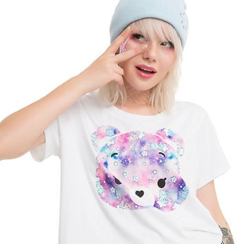 Care Bears Face Fill Girls Crop T-Shirt