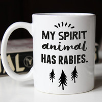 Big Mug 15oz - Spirit Animal Funny Animal Mug, big coffee mugs, big coffee mug, funny coffee mugs, gift for her, sarcastic coffee mug