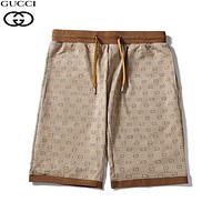 GUCCI Fashion Men Women Casual Classic GG Print Sports Beach Shorts