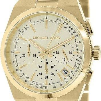 Michael Kors MK5926 Channing Mid-Sized Chronograph Women Gold SS Watch