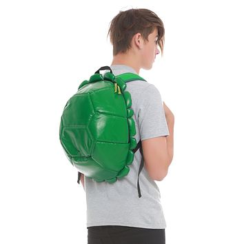 "Licensed cool Teenage Mutant Ninja Turtles Shell Costume Backpack & 4 Changeable Masks 16""x18"""
