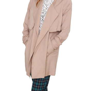 Windy City Trench Coat - Taupe