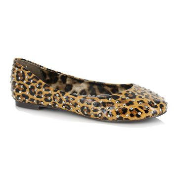 Ellie Shoes E-BP016-Penny  0 Leopard Flat With Silver Studs