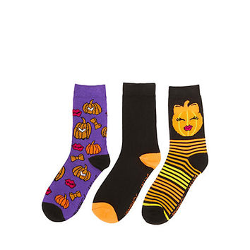 SMILING PUMPKINS CREW 3 PACK: Betsey Johnson