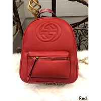 GUCCI tide brand men and women personality fashion chain with backpack Red