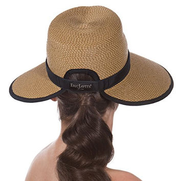 Eric Javits Women's Headwear Suncrest Hat (Natural/Black)