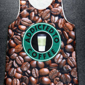 Coffee Beans Starbucks all over 3D print jersey