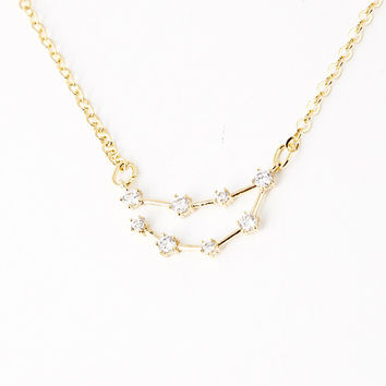 Capricorn Constellation Zodiac Necklace (12/23-01/20) - As seen in Real Simple, People Magazine & more