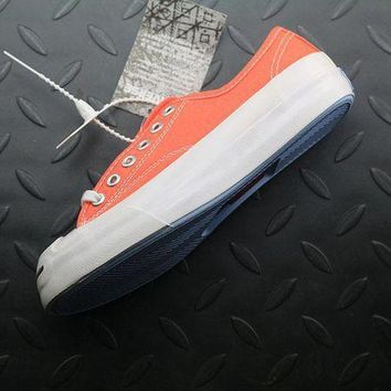 ESB8KY Converse Jack Purcell Fashion Canvas Flats Sneakers Orange