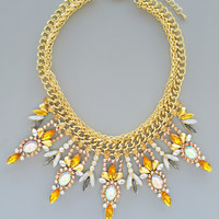 Desert Firestorm Statement Necklace