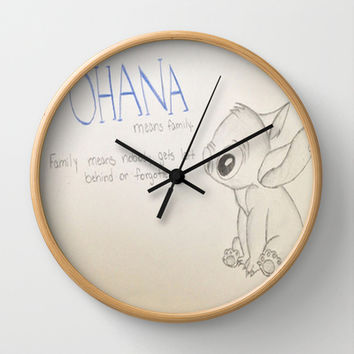 Lilo and Stitch Wall Clock by Elyse Notarianni | Society6