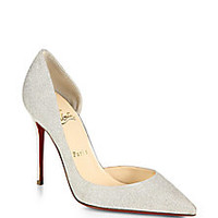 Christian Louboutin - Glittered Leather d'Orsay Pumps - Saks Fifth Avenue Mobile