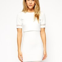 ASOS Sheer & Solid Crop Top Bodycon Dress
