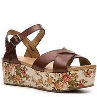 Bass Ophelia Wedge Floral Sandal