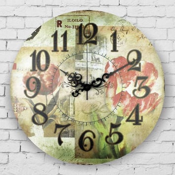 modern large decorative wall clock absolutely silent wall clock vintage home decor 3d wall decor clocks quartz watch wall