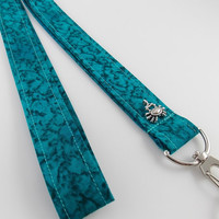 Ocean Lanyard Ocean Water Lanyard Ocean Keychain Crab Key Ring Teacher Lanyard Dorm Room Keychain Ocean ID Badge Holder