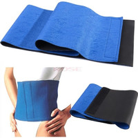 Waist Trimmer Body Shaper Burn Fat Weight Loss Exercise Wrap Belt Slimming SV005080 Baby (Color: Blue) = 1745582276