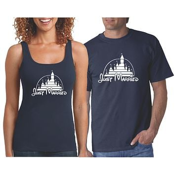 Mr and Mrs Just Married  Couple Shirts