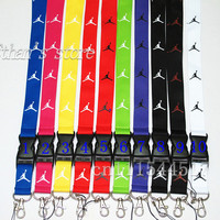 FREE SHIPPING Men Jordan key lanyard ID badge Holders Sport mobile neck strap keychains