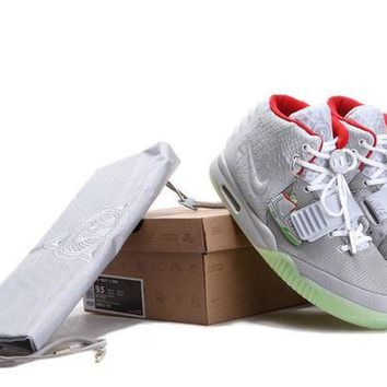 DCCK Nike Air Yeezy 2 NRG Wolf Grey/ Pure Sneaker Size US8-13