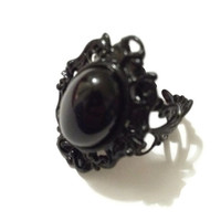 Inky Cameo Ring