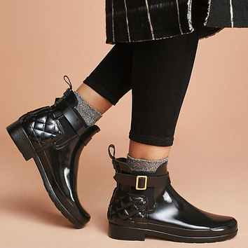Hunter Quilted Chelsea Rain Boots