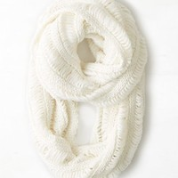 AEO Women's Airy Knit Loop Scarf (Cream)