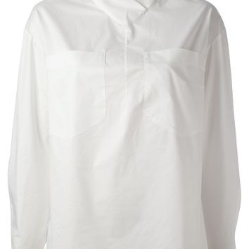 Carven Shawl Collar Blouse