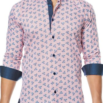 Maceoo shirt - Class Paisley Navy Red
