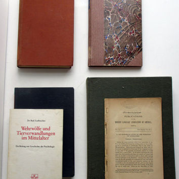 Werewolf Book Collection - A Group of Rare, Scholarly Vintage and Antique Books on Lycanthropy
