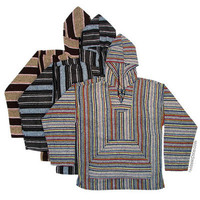 Mexican Poncho Pullover Baja Hoodie on sale for $19.95 at Hippie Shop