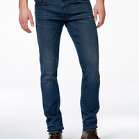 True Religion Men's Geno Slim-Fit Worn Underground Wash Jeans