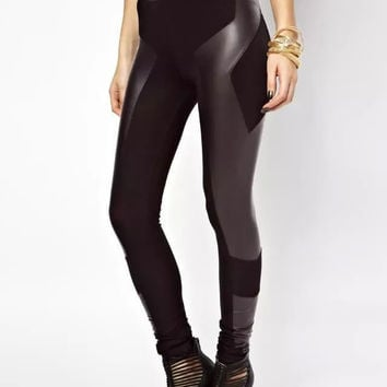 Winter Women's Fashion Mosaic High Rise Leggings [6513948359]