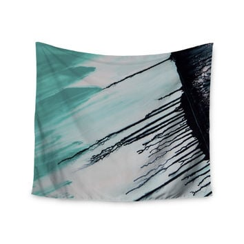 "Steve Dix ""Extractions"" Teal Black Wall Tapestry"