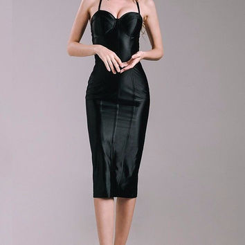 Casey Satin Midi Dress