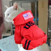 Warm Cat Clothes Pet Hoodie Puppy Costumes for Dogs Coats Outfit Jacket Hoodies Winter Pet Apparel 40Q