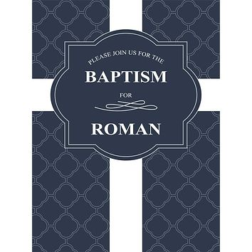 Custom Baptist Religious Christian Cross Pattern Backdrop (Any Color) Background - C0285