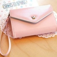 OOOUSE Fashion Korean Cute Envelope Wallet Case for Samsung Galaxy S3,s2,iphone 5,4s/4