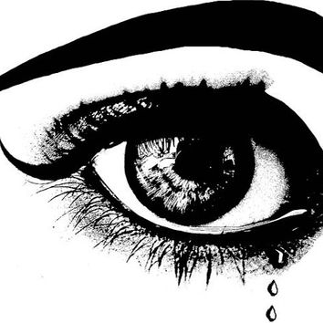 womans crying eye png file clip art stamp Digital graphics beauty makeup Image Download