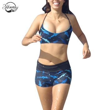 Hooray Swimsuit Halter Bandeau Sport Swimwear Low Waist Bikinis Set Print Animal Monokini Mujer Brazilian Bralette Zaful Bikini