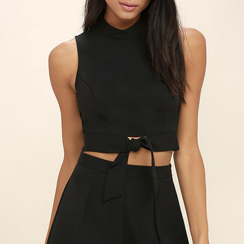 Anywhere Black Two-Piece Set