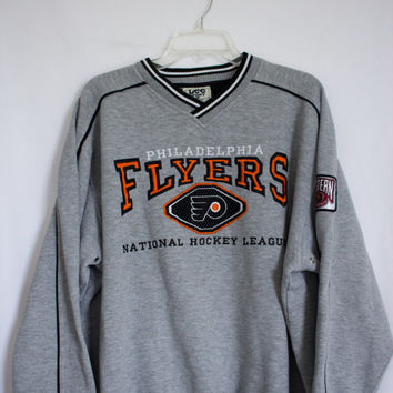 Vtg Lee Sport NHL Philadelphia Flyers Sweater size Large
